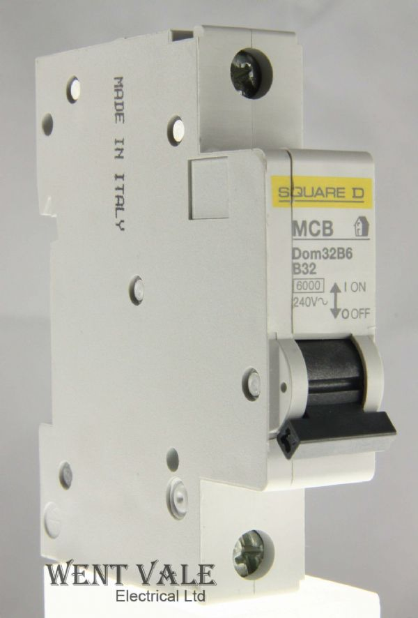 Square D Domae - DOM32B6 - 32a Type B Single Pole MCB Used